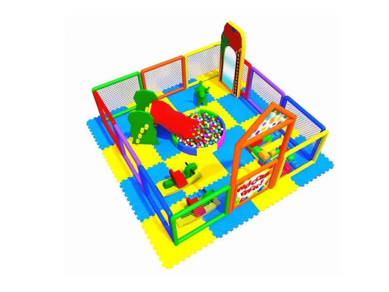 Soft Area with Playground Fence 3.00 X 3.00