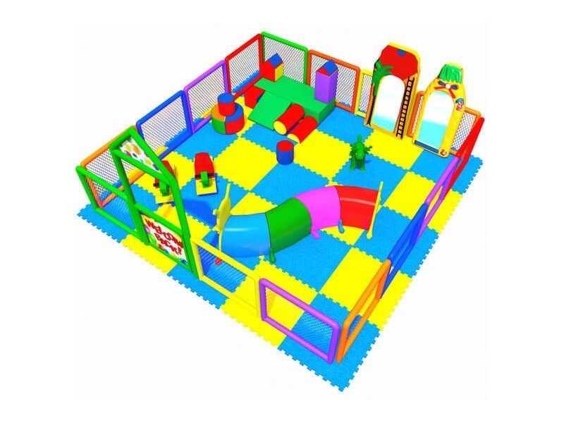 Soft Area with Playground Fence 4.00 X 4.00