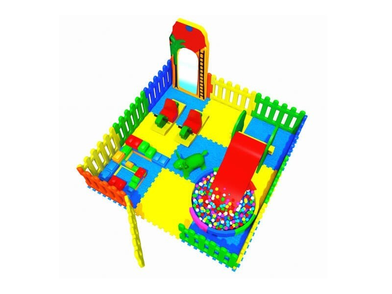 Soft Area with Plastic Fence 3.00 X 3.00