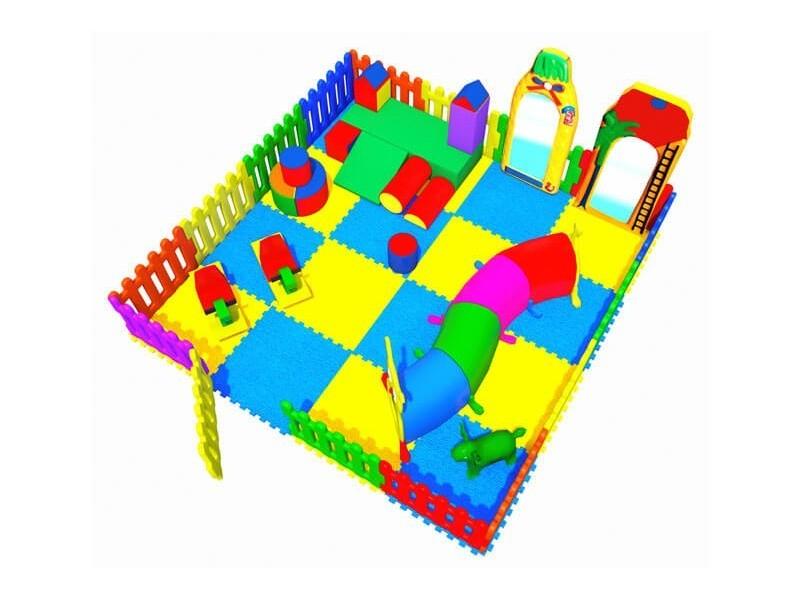 Area Soft con Staccionata in Plastica  4,00 X 4,00